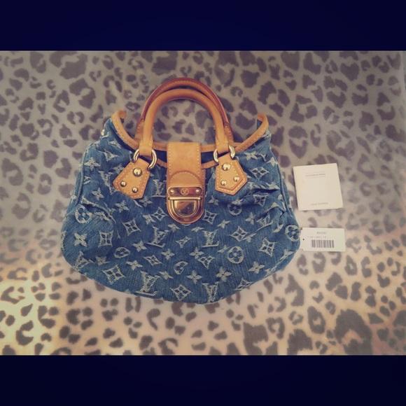 435d2dba161a Louis Vuitton Handbags - Louis Vuitton Denim Pleaty Monogram